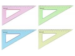 Треугольник Silwerhof 540094 Солнечная коллекция пластик дл.14см ассорти флуорисцентный/прозрачный