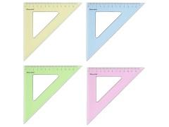 Треугольник Silwerhof 540095 Солнечная коллекция пластик дл.13см ассорти/прозрачный 45градус. спайка