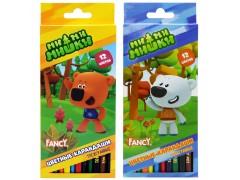 Набор карандашей цветных трехгранных заточенных FANCY, 12 цв., арт. FCP401-12