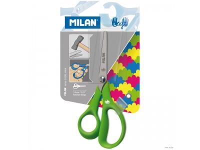 Ножницы для левшей Milan 14,5 см, эргономичные ручки, ассорти, арт. 1439620
