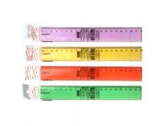 Линейка 20см, флюоресцентная, прозрачная, пластиковая, 4цв, арт. APR20/TF