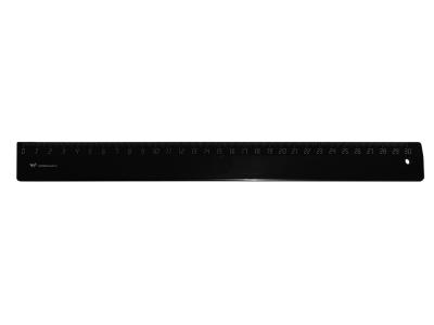Линейка WORKMATE 30см, черная, пластиковая, арт. 182000801