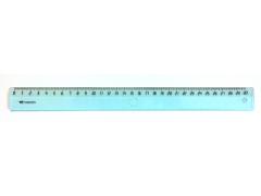 Линейка WORKMATE 30см, прозрачная, б/цв., пластиковая, арт. 182001100
