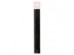 Линейка 20см, черная, пластиковая, арт. APR20/BK