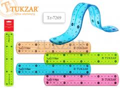 Линейка пластиковая гибкая 20 см, 4 цвета в ассортименте, NEW, арт. TZ 7269