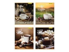 Тетрадь Silwerhof 812018-55 48л. клет. A5 Кофе. шоколад 4диз. картон вод.лак скрепка