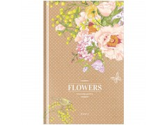"Ежедневник недатированный, A5, 136л., 7БЦ OfficeSpace ""Цветы. Craft flowers"", мат. лам, выб. УФ-лак Ен5т136_26924"