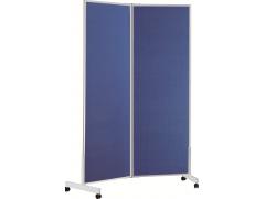Стенд демонстрационный текстильный Classic Boards BMF1512-VI (2 секции), 150х120см, складной, мобильный на колесиках