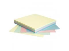 Бумага для заметок с липким слоем РАДУГА, разм. 75х75 мм, 4 цвета, 100 л., арт. 365498
