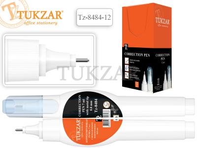 Корректирующая ручка TUKZAR, 7 мл., с металлическим наконечником, арт. TZ 8484-12