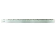 Линейка WORKMATE 40см, прозрачная, б/цв., пластиковая, арт. 182001600