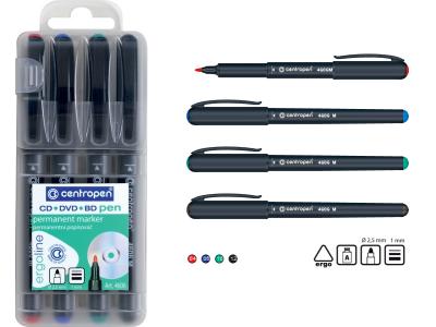 Набор маркеров CD-PEN перманентных, 4 цв., новый дизайн, арт. 4606/4