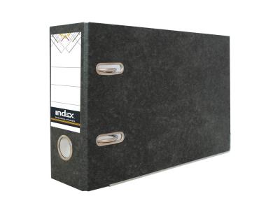 Папка-регистратор для платежек 80мм, черный мрамор, арт. IND OKT S