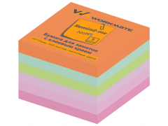 Бумага для заметок с клеевым краем, 75х75 мм, 300л., 5-ти цветная, арт. 003001400