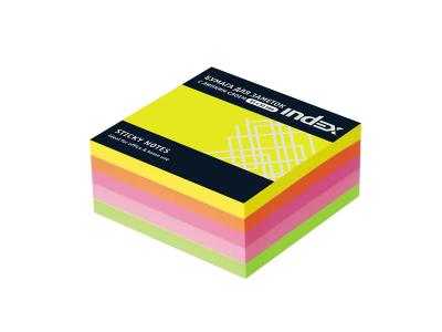 Бумага для заметок с липким слоем МИНИ-КУБ, разм. 51х51 мм, 5 неоновых цветов, 250 л., арт.I436810