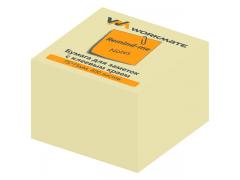 Бумага для заметок с клеевым краем, 75х75 мм, 400л., желтая, арт. 003000408