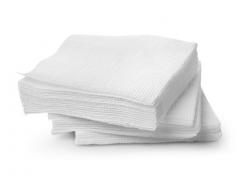 Салфетки бумажные 1сл. 100 шт/уп., цв.белый, РБ