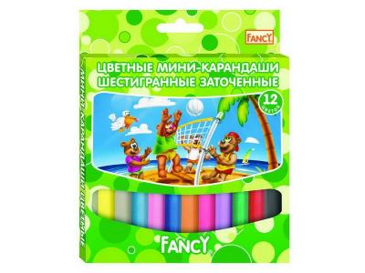 Набор карандашей цветных укороченных FANCY, 12 цв., арт. FCP121-12