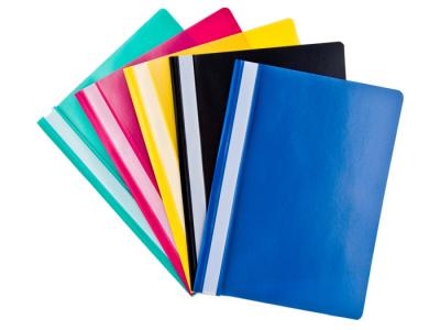 Папка-скоросшиватель, пластик, желтый, арт. R-150/123T