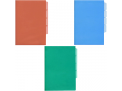 Папка - уголок трехуровневая, ассорти, 150 мкм/секция, арт. SCB356