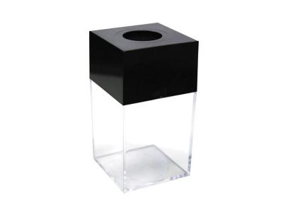 Скрепочница магнитная, квадратная, прозрачный пластик, ассорти, арт. ICD1001