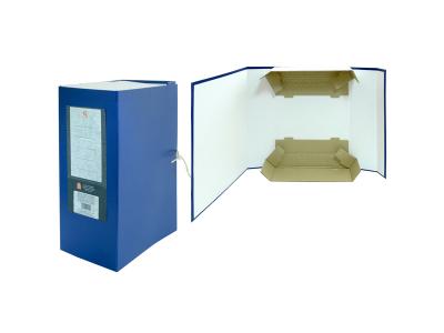 Короб архивный цельнокроенный на 2-х завяз.,разборный, SPONSOR, бумвинил, 140 мм цвет ассорти, арт. SBA-140