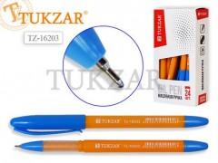 Ручка шариковая с чернилами на масляной основе, 0,7 mm, цвет чернил синий, ОРАНЖЕВЫЙ корпус, арт.TZ 16203