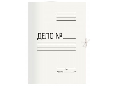 Папка на завязках Silwerhof ПЗ280 картон 0.5мм 280г/м2 белый