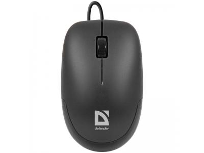Мышь Defender Datum MM-010 USB черный 2btn+Roll, арт. 52010