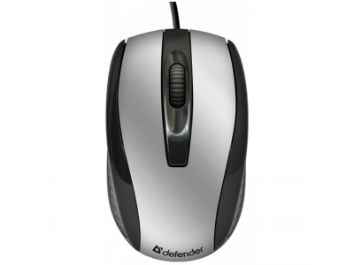 Мышь Defender Optimum MM-140 USB серебристо-черный, арт. 52140