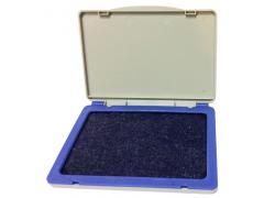 Штемпельная подушка, 120*85мм, водн.осн., пластик, синяя, арт. 078000302