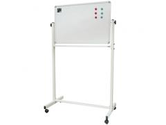 Доска магнитно-маркерная информ. вращ-ся, горизонтальная 90х120 см, мобильная на колесиках+подставка, арт.IWB-502