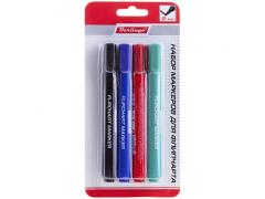 Набор маркеров для флипчарта, 4цв., пулевидный, 2мм, арт. BMf_42209