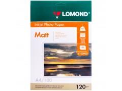 Бумага А4 для стр. принтеров Lomond, 120г/м2 (100л) мат. 0102003