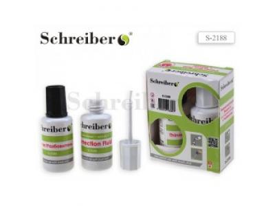 Набор: корректирующая жидкость,20 мл. + разбавитель, 20 мл. Schreiber, арт. S 2188