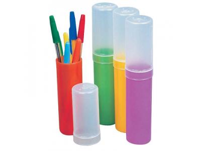 Пенал-тубус пластмассовый, цветной, в асс., арт. ПН02
