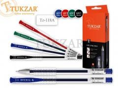 Ручка гелевая:  в прозрачном корпусе, игольчатый пишущий узел 0.5 мм, арт. TZ 118 A, цвет красный