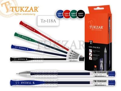 Ручка гелевая: в прозрачном корпусе, игольчатый пишущий узел 0.5 мм, арт. TZ 118 A