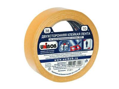 Клейкая лента двухсторонняя UNIBOB, арт.4141, 38ммх10м, полипропилен, арт. 45447