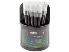 Ручка шариковая COLOURPLAY, 0,6 мм, пластиковый корпус, масляные чернила, черная, арт. ICBP601/BK