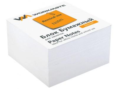 Бумажный блок 9х9х5, офсет, проклеенный, в термопленке, белый, арт 003004700
