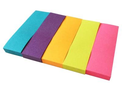 Закладки с клеевым краем, 15х50 мм, бумажные, 5 блоков по 50л., 5-ти цветные, арт. 003005000