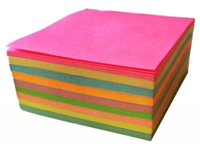 Бумага для заметок с клеевым краем, 75х75 мм, 225л., 9 неоновых цветов, арт.003005600
