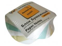 Бумажный блок 8х8х4, четырехцветный, спираль, офсет, арт. 003006000