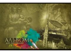 Альбом для рисования, 24 л., обл. картон, 2 дизайна, арт. 011000400