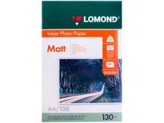 Бумага А4 для стр. принтеров Lomond, 130г/м2 (100л) мат.дв. 0102004