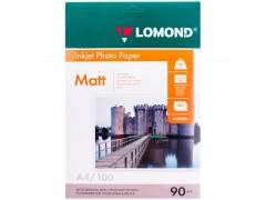 Бумага А4 для стр. принтеров Lomond,  90г/м2 (100л) мат.одн. 0102001