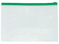 Папка на молнии прозрачная, ассорти, ф.A4, 140мкм, без кармана для визитки, арт. 052000700