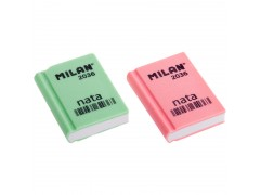 "Ластик Milan ""Nata 2036"", прямоугольный, пластик, 39х29х9мм CPM2036"