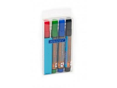 Набор маркеров для флипчарта M160, 4цв., пулевидный, 2-3 мм, GRANIT